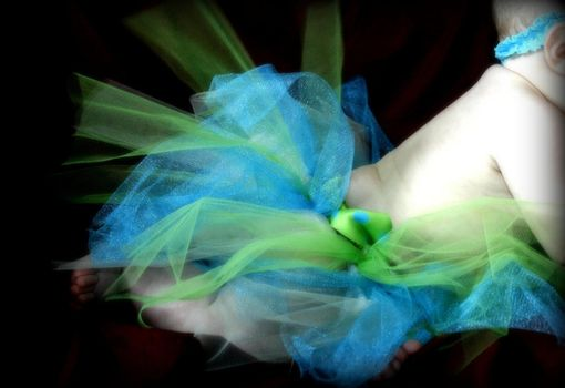 Custom Made Crocheted Tutu Skirt, 2-3 Colors Of Tulle Choice, Includes Ribbon In Coordinating Color.