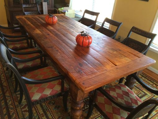 farmhouse table for 8 Buy a Custom 8 Foot Antique Heart Pine Farmhouse Table, made to  farmhouse table for 8