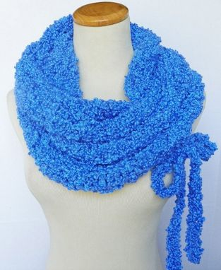 Custom Made Sale The Tuareg Cowl - Fiber Art Drawstring Cowl / Neckwarmer / Oversized