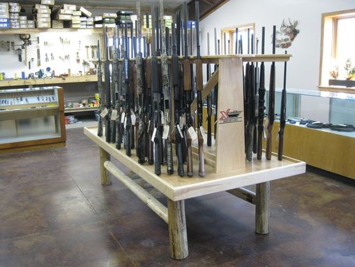 Hand Made Custom Made Commercial Gun Display Rack By Lees
