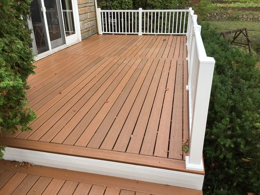 Custom Made Original Decking On A Three Tier Deck Replaced With Composite Decking