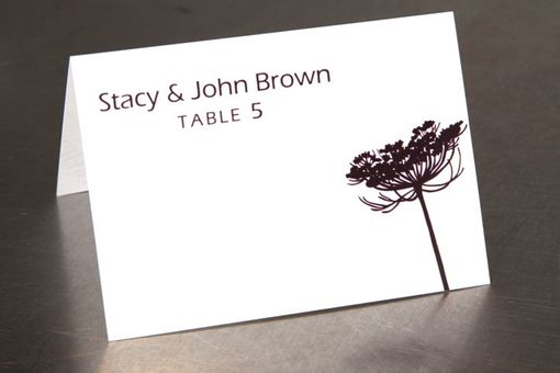 Custom Made Queen Anne's Lace Place Cards - Escort Card