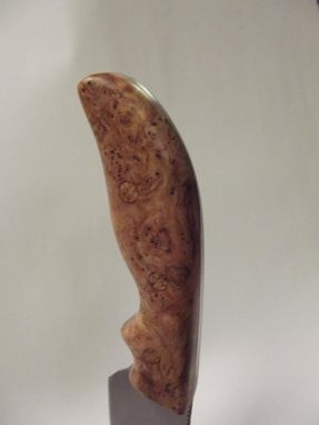 Custom Made Cherry Burl  Drop Point Knife
