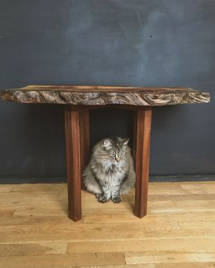 Custom Made Reclaimed Live Edge Spalted Maple And Red Oak End Table / Accent Table
