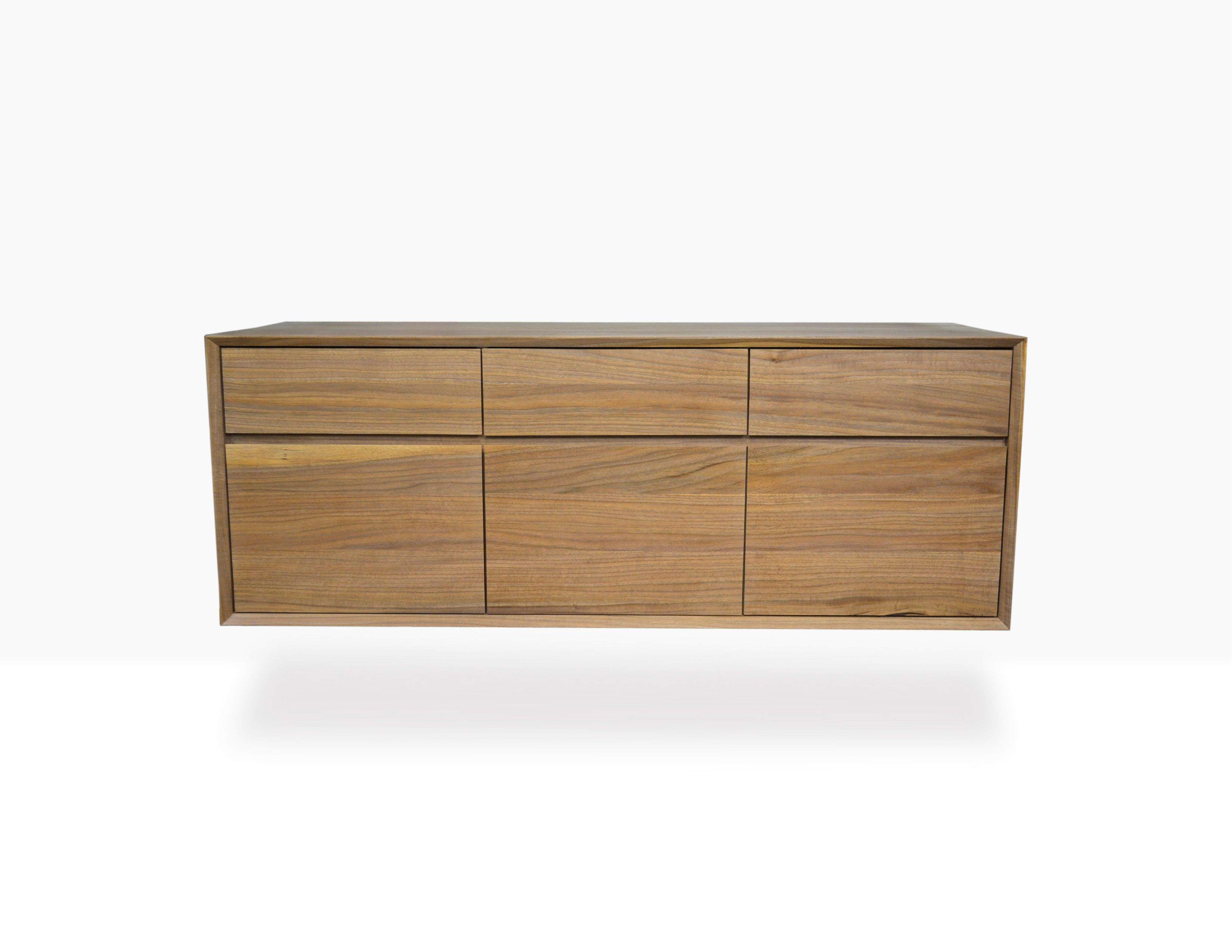 Hand Crafted Modern Floating Walnut Credenza by Blak Haus ... on hand carved buffet, dining room buffet sideboard, antique french sideboard, french style sideboard, pine sideboard, pennsylvania house sideboard, hand painted vintage sideboard cabinet oriental,