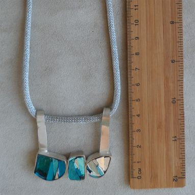 Custom Made Stilish Italian Necklace Inspired By The Seas That Lap This Country. Blue And Light Blue Tones.
