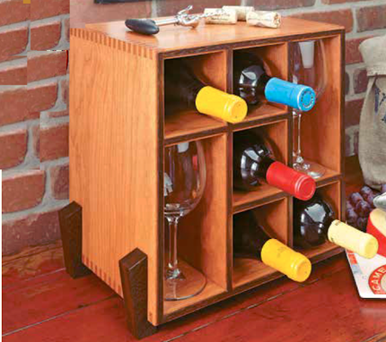 Custom Made Counter Top Wine Rack