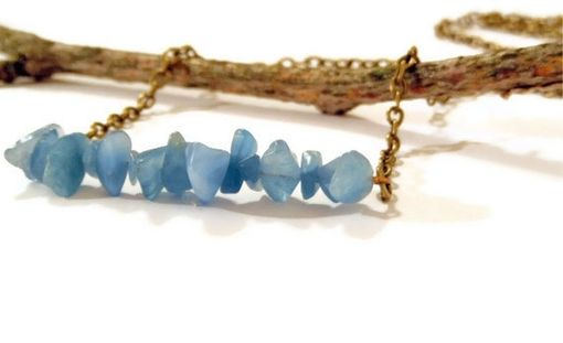 Custom Made Blue Sky Quartz Row Necklace