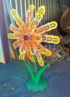 Custom Made Metal Flower Outdoor Sculpture Garden Decor