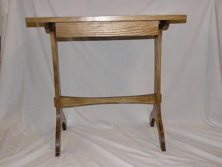 Custom Made Shaker Style Tresle End Table