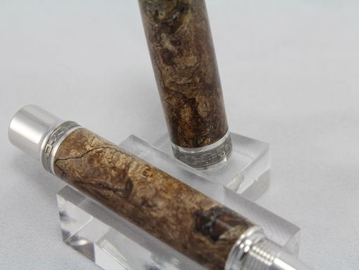 Custom Made Big Leaf Maple Burl Emperor Fountain Pen - Free Shipping
