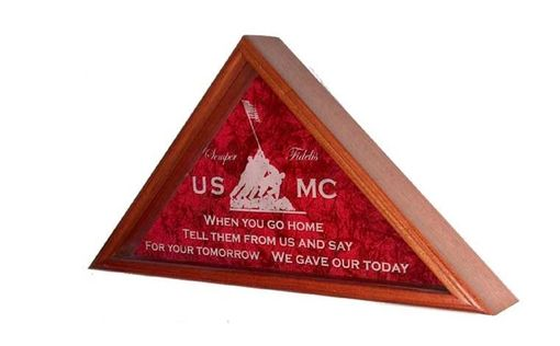 Custom Made Marine Corps Flag Display Case
