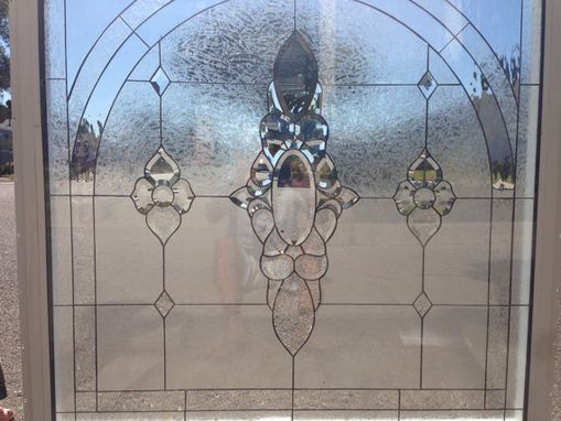 Custom Made Incredible 4x4 Clear Beveled Stained Glass Windows