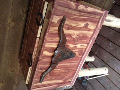 Custom Made Cedar Chest Cooler