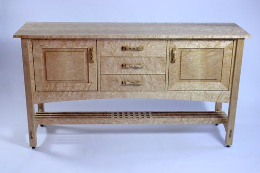 Custom Made Quilted Maple Arts And Crafts Sideboard