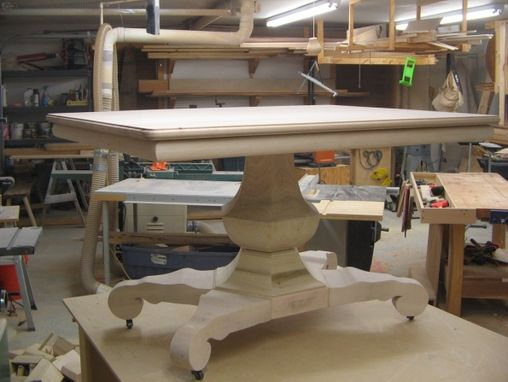 Custom Made Pedestal Table ( Hexagonal Urn Ca 1840)