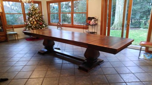 Custom Made Extendable 9ft. - 12ft. Hand Crafted Dining Table