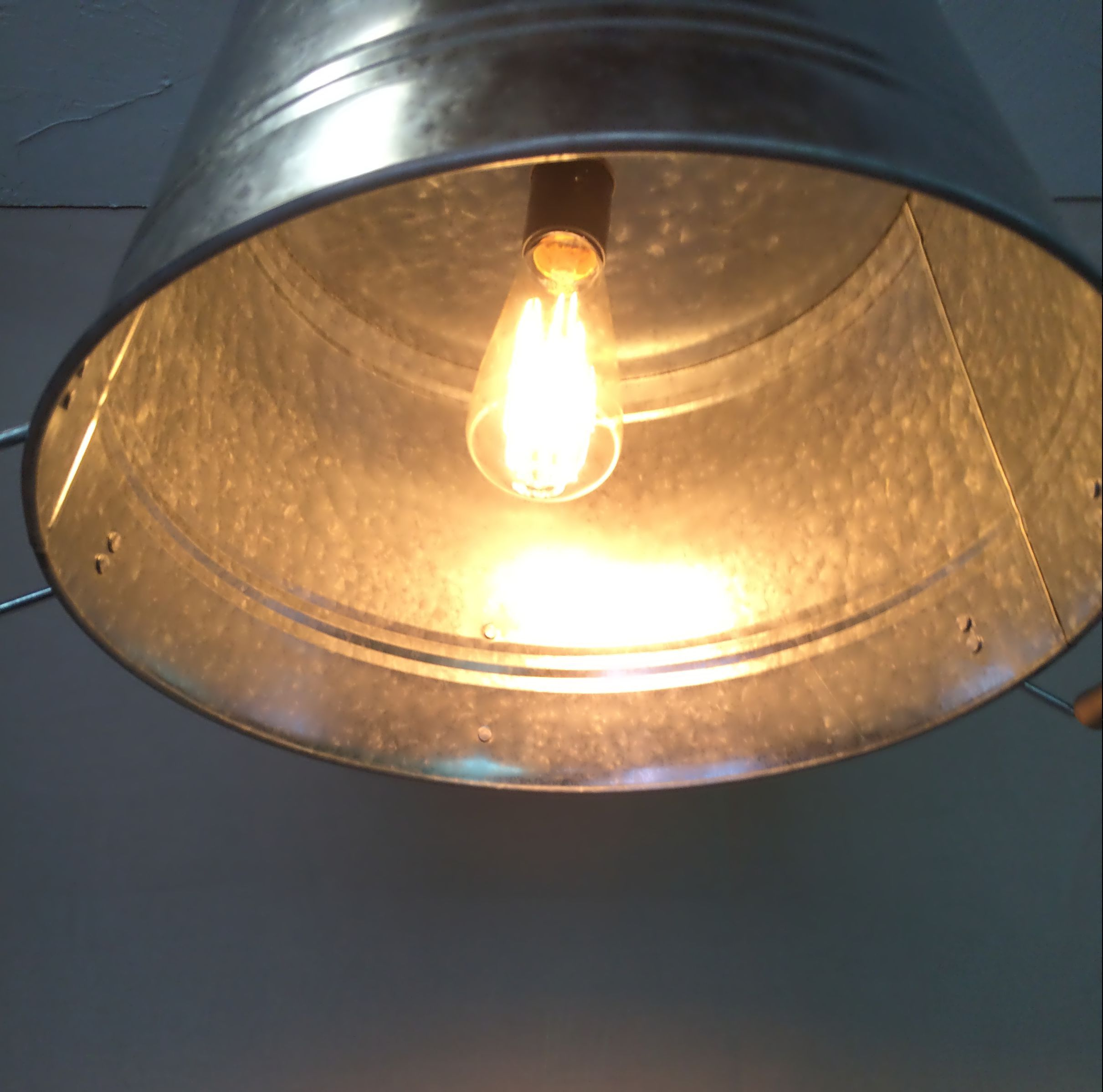 Buy A Hand Made Galvanized Pail Tub Bucket Pendant Light