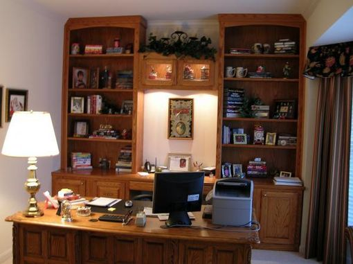 Custom Made Oak Office Cabinets.
