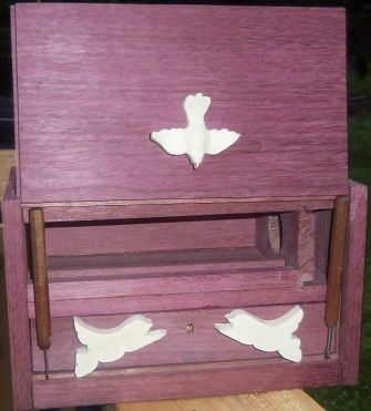 Custom Made Purpleheart And Holly Musical Jewelry Box