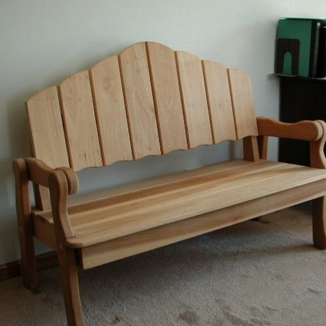 Hand Made Park Bench...Indoor/Outdoor by Custom Wood Solutions ...