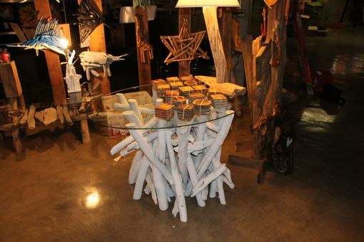 Custom Made Driftwood Dining Table White