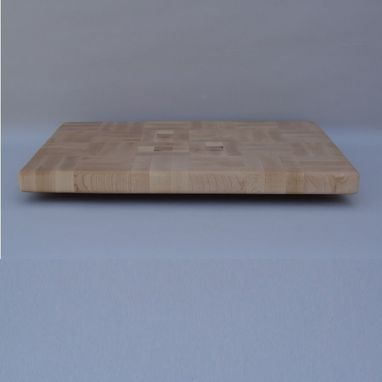 Custom Made Rectangle Maple End Grain Up Cutting Board