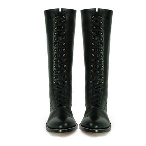 5a18f6624ba74 Buy Hand Crafted Rimbaud Lace Up Tall Boots, Moc Toe, Goodyear Welt ...