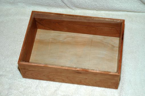 Custom Made Cherry Display Box For Family Bible