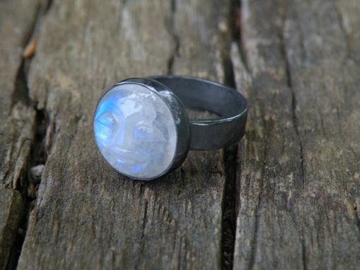 Custom Made Rainbow Man In The Moonstone Ring