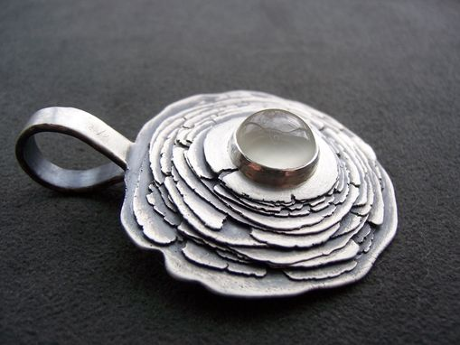 Custom Made Rough Edge Layered Disc Pendant