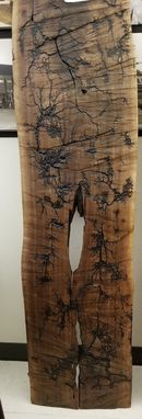 Custom Made Lichtenberg Table Top, Head Board, Wall Art