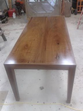 Custom Made Black Walnut Book Matched Parson's Table Desk