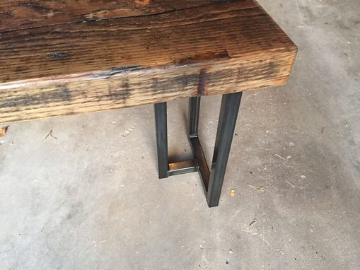 Custom Made Reclaimed Wood (Pine) Bench - Handmade In Denver
