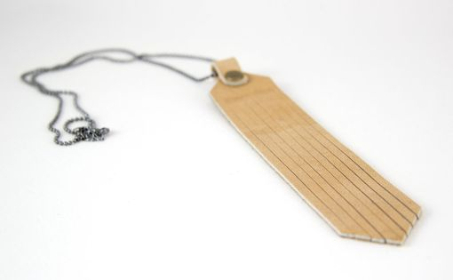 Custom Made Tan Leather Fringe Necklace