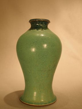 Custom Made Green And Blue Vase #2