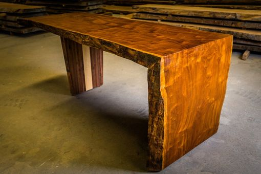 Custom Made Live Edge Slab Dining Table