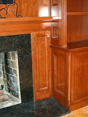 Custom Made Built-In Casework Fireplace Surround