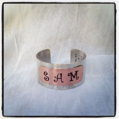Custom Made Personilized Name Cuff Bracelet