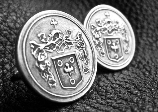 Custom Made Custom Sterling Silver Cufflinks With Logo, Family Crest, Or Coat Of Arms
