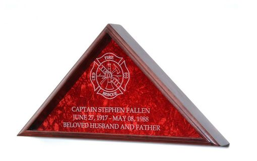 Custom Made Firefighter Flag Display Case
