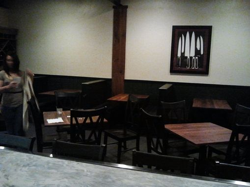 Custom Made Restaurant Tables, Wine Rack, And Server Stand