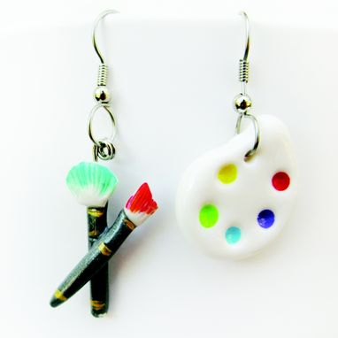 Custom Made Artist Mismatched Earrings