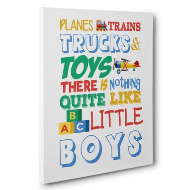 Custom Made There Is Nothing Like Little Boys Kid Room Canvas Wall Art