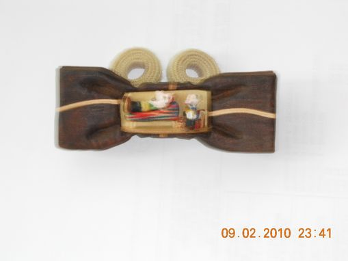 Custom Made Novelty Bow Tie - Psychiatrist In Chair With Patient On Coach