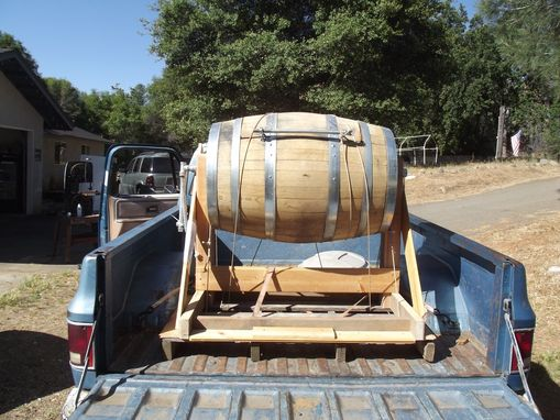 Custom Made Wine Barrel Ice Chest