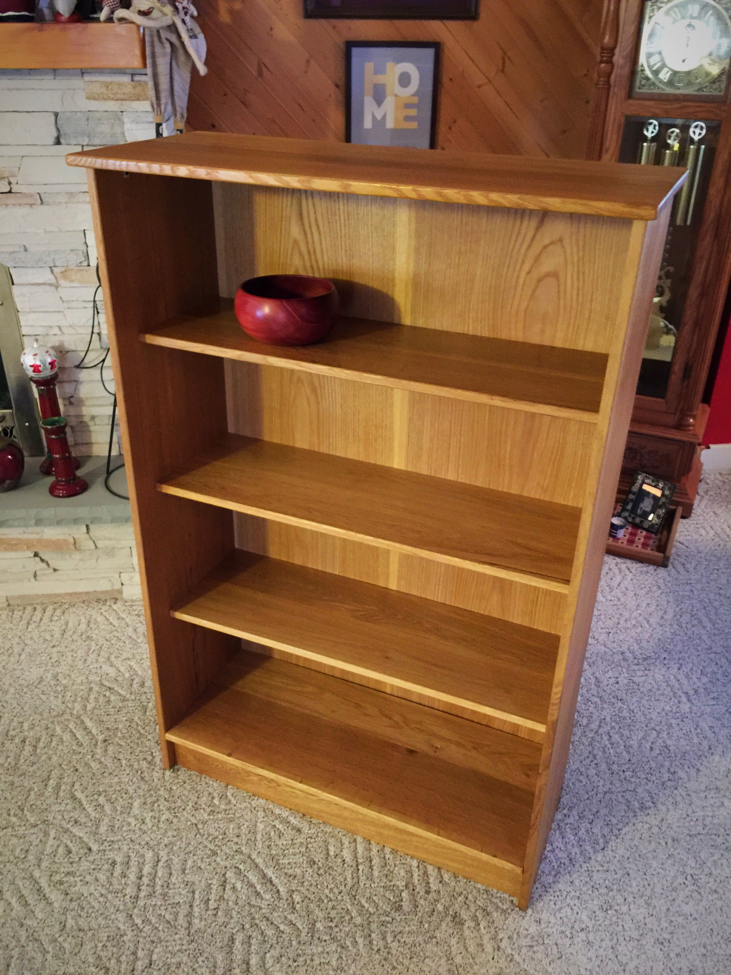 space bookshelf makeover fall french oak pin living pinterest