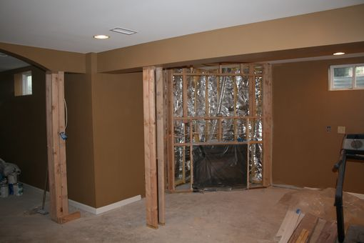Custom Made Solid Wood Built In Tv Wall Unit, Fireplace And Bookcase Display