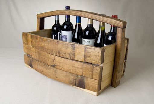 Custom Made Napa Barrel Stave Magazine/Wine Basket