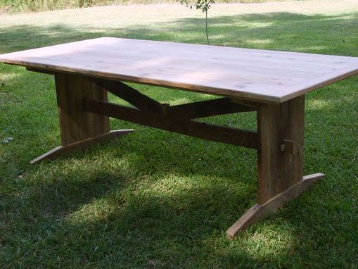 Custom Made Unique Trestle Table